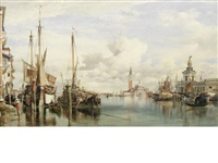 trabaccoli carrying wood, san giorgio maggiore and the dogana beyond by edward william cooke