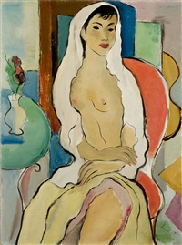 seated nude by georges artemov