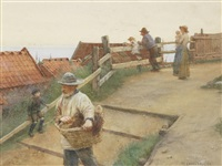 the path to newlyn by walter langley