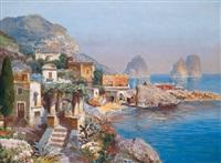 motiv aus capri, blick auf die faraglioni by gottfried arnegger