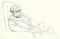 portrait of wyndham lewis by michael ayrton