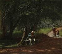 en gammel spillemand i skoven by david monies