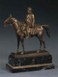 equestrian figure of napoleon by louis marie moris