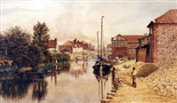 riverside, norwich by john joseph cotman