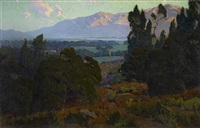 view along the san gabriel valley by elmer wachtel