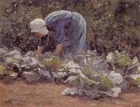 la cueillette des choux by léon riket