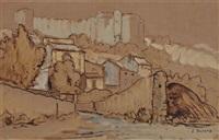 l'ancienne porte de villeneuve-les-avignon by joseph marius hurard