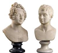 busto di dama (+ busto di gentiluomo, lrgr; 2 works) by adamo tadolini