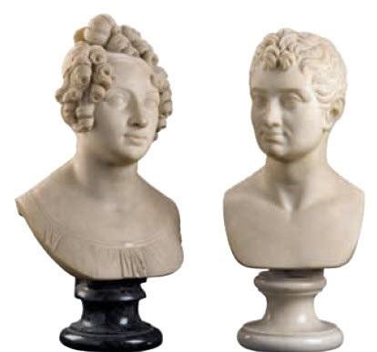 busto di dama busto di gentiluomo lrgr 2 works by adamo tadolini
