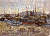 the port of piraeus by michalis kandylis