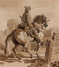 brigadier de dragons by jean-baptiste (louis) le paon