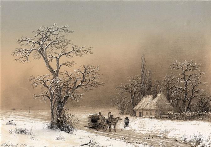 winter landscape by ivan konstantinovich aivazovsky