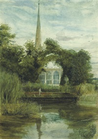 holy trinity church, stratford-on-avon by john william inchbold