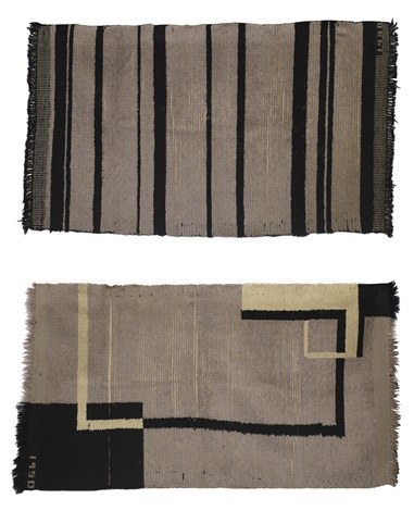 rugs set of 2 by walter gropius