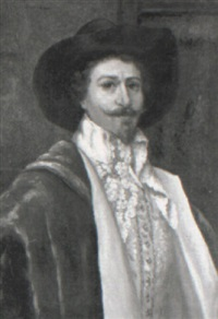 a portrait of a cavalier by a. d' ambrossi