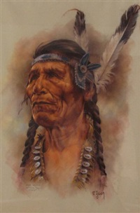 john hunter, sitting eagle, stoney by vilem zach