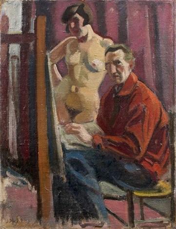 le peintre et son modèle ginette renaud by jean puy