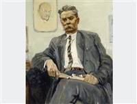 portrait gorky by mikhail abdullayev