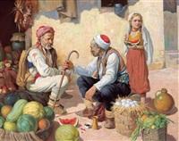 die kleine melonenverkäuferin by marcel krasicky