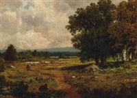 an autumn landscape by c.e. picault