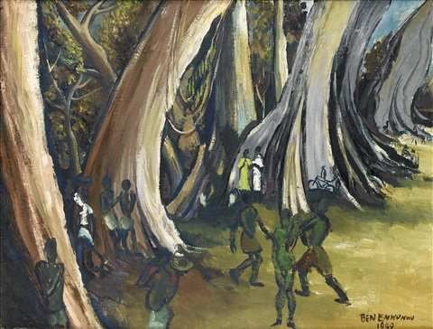 cotton trees by ben enwonwu