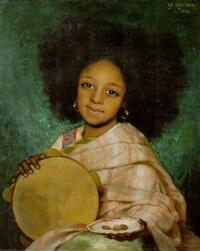 la fille avec tambourin by charles corbineau