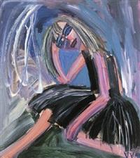 woman sitting by vicki varvaressos