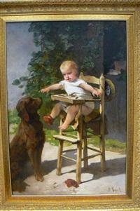 bébé et toutou by francois maurice reynaud