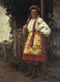 jeune ukrainienne by leonid alexandrovitch fokin