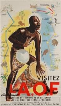 visitez l'a.o.f - bureau de tourisme de la délégation de l'afrique occidentale française by r. foucault