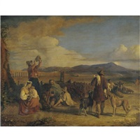 italian peasants on the campagna by joseph severn