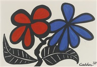 black leafed flowers by alexander calder