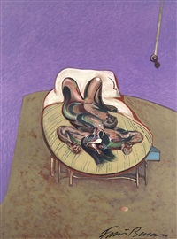 reclining figure. wohl by francis bacon