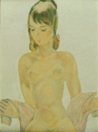 portrait of a nude girl by boris smirnov