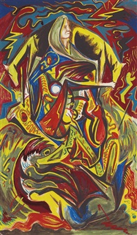 composition with woman by jackson pollock
