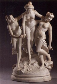 three nymphs by ferdinando andreini