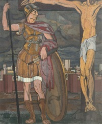 romain devant la croix by louis léon eugène billotey