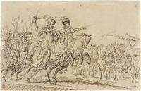 scena di battaglia by francesco allegrini