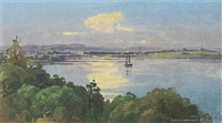 manukau harbor by george william carrington