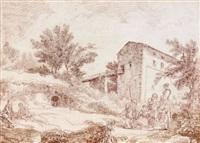 vue d'un jardin à caprarola by hubert robert