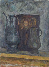 two jugs and an icon by iosif naumovich gurvich