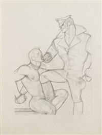 untitled (chained neck) by tom of finland