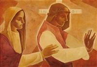 christus und maria by aloys (wachlmayr) wach