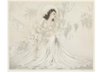 wisteria by louis icart