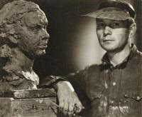 portrait of sculptor a. makogon by boris ignatovich