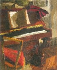 intérieur avec un piano by jean reschofsky