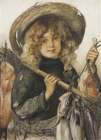 fisher girl, island bay by christian wilhelm allers