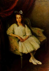 portrait of a young girl seated by lydia field emmet