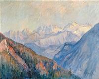 paysage de montagne by pierre prince de wolkonsky