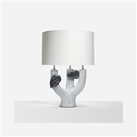 rare table lamp by georges jouve